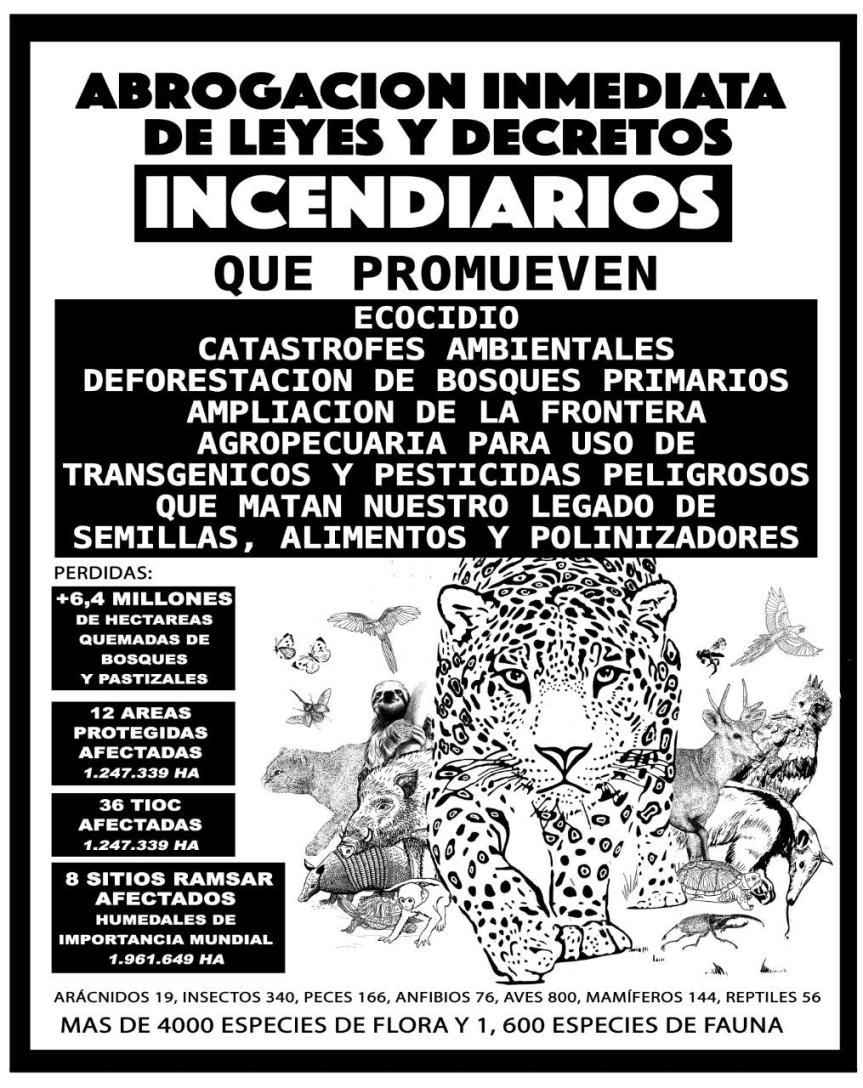 Campaña de recolección de firmas para la abrogación inmediata de leyes y decretosincendiarios