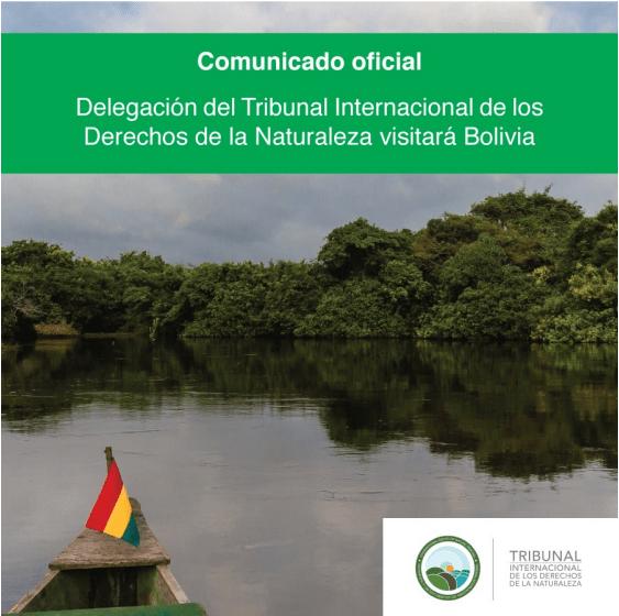 Delegación del Tribunal Internacional de los Derechos de la Naturaleza visitará Bolivia del 15 al 20 demarzo