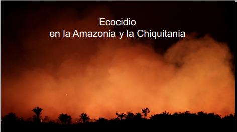 Presentación caso Amazonía y Chiquitanía ante el Tribunal Internacional de los Derechos de la Naturaleza. Diciembre2019