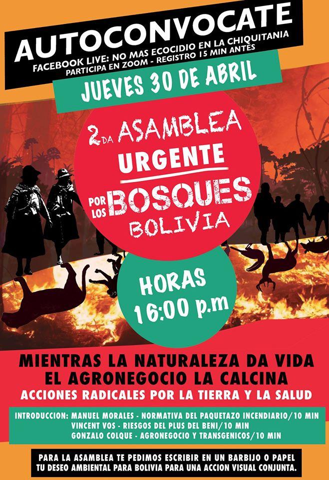 Segunda Asamblea URGENTE por los Bosques deBolivia