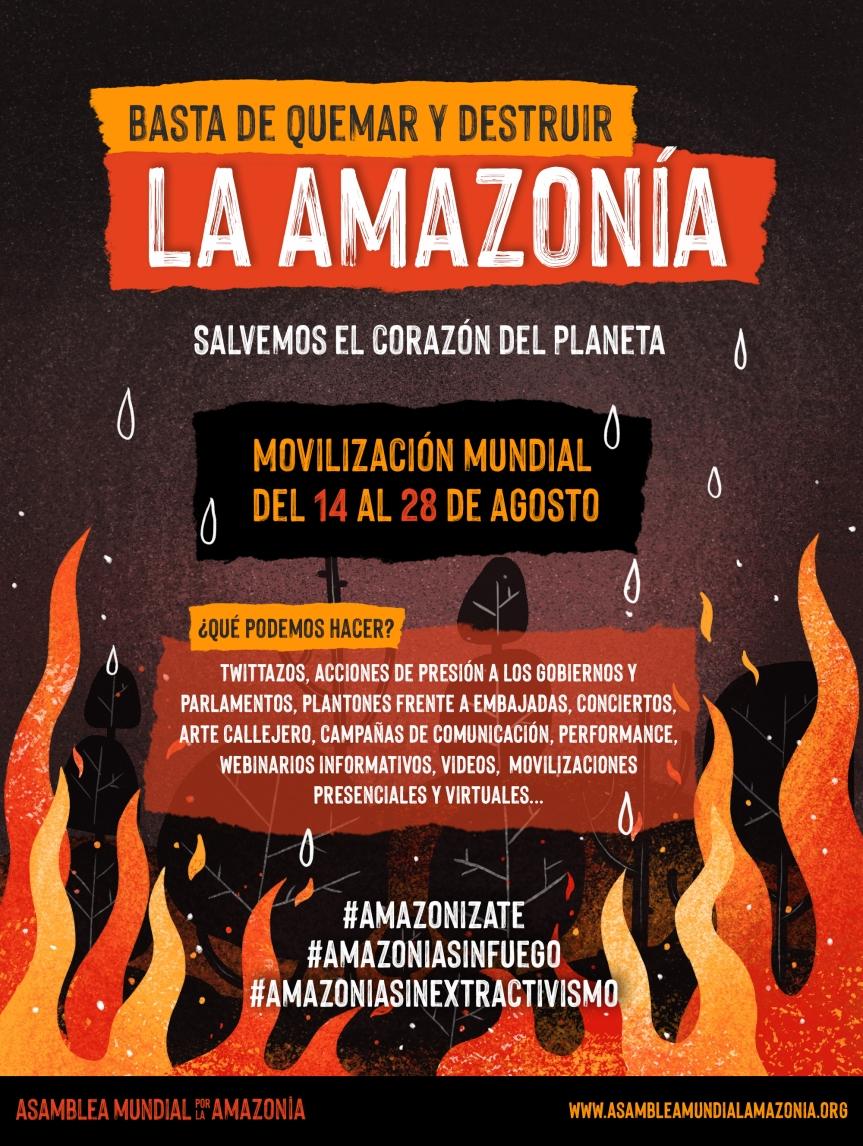 ¡Amazonízate contra las quemas y elextractivismo!