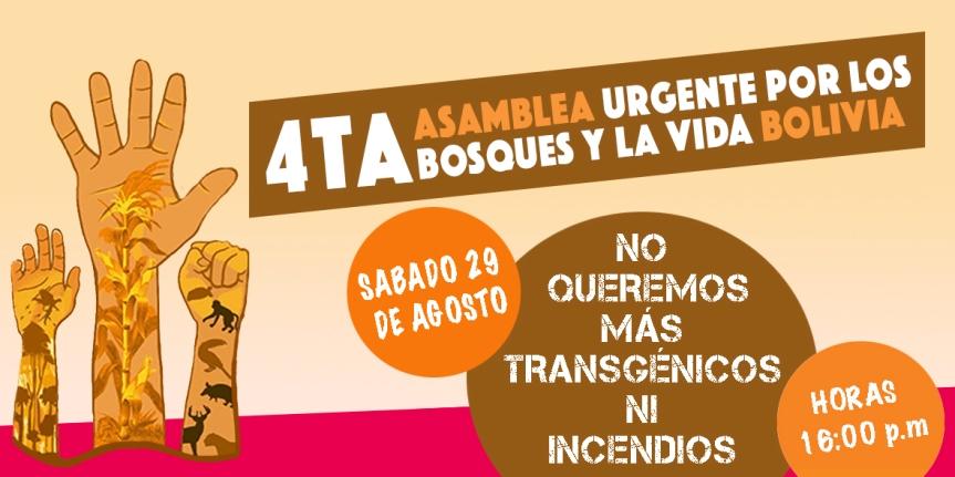 CUARTA ASAMBLEA URGENTE POR LOS BOSQUES Y LA VIDABOLIVIA