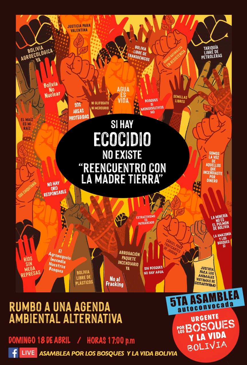 Agenda Ambiental Alternativa: detengamos el ecocidio en Boliviaahora